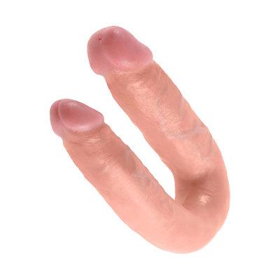 King Cock - U-Shaped Double Trouble Medium Huidskleur - Dildo - Dubbele dildo - E28314 - 603912350098 *7TH*