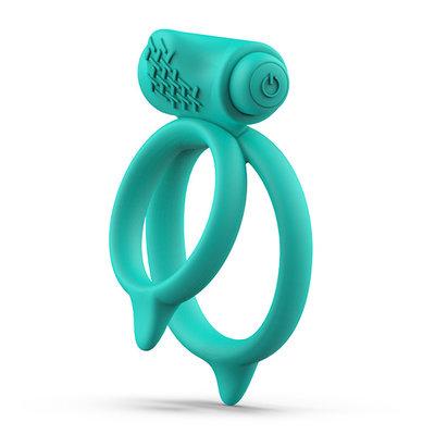 B Swish - bcharmed Basic Plus Dual Penisring Groen - Penisringen - Vibrerend Batterijen - E28674 - 4897106300020 *7TH*