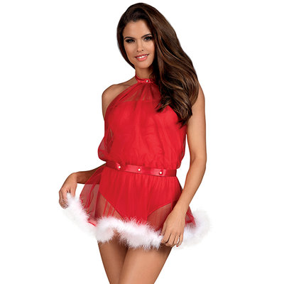 Obsessive - Kerst Santastic Dress & Thong L/XL - Lingerie -  - E29752 - 5901688222928 *7TH*