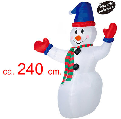 Opblaasbare sneeuwman 240cm *7TH*
