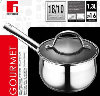 Bergner  RVS 18/10 Steelpan 16cm - 1,3 liter *7TH*