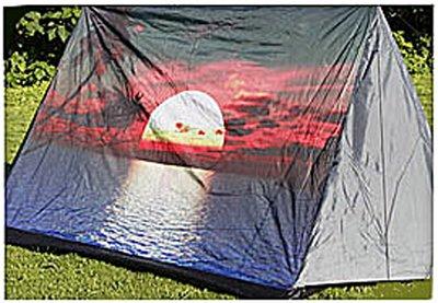 3 persoons tent met print - zon *7TH*
