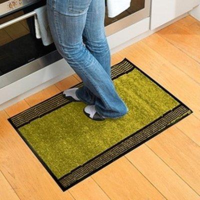 Magic Carpet Green/Striped: superabsorberende binnen- en buitenmat * Magic Carpet - 8719128647623 *7TH*