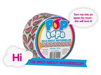 Pop Tape 48mm x 10m - Wild About Watermelon * Pop Tape - 4895185720173 *7TH*