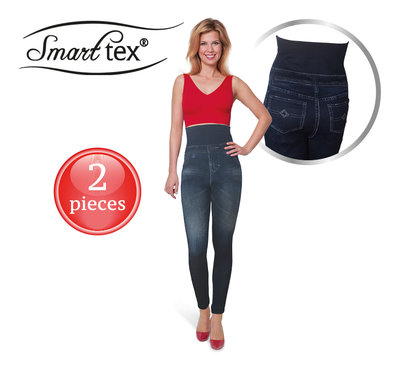 SmartTex Jeaneez Slim-High-Waist-Legging 2 pcs - Size XL/XXL * SmartTex - 4260424220644 *7TH*