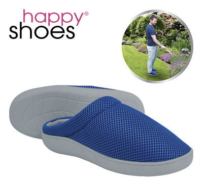 Happy Shoes Gel Slippers Blue Size 43/44 * Happy Shoes - 4260424221504 *7TH*