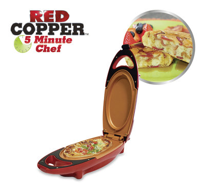 Red Copper 5 Minute Chef - Cooking Plate (zie video)  * Red Copper - 9010041009666 *7TH*