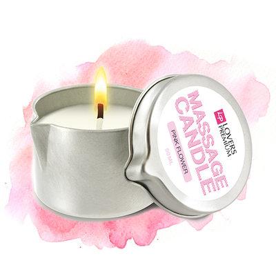 LoversPremium - Massagekaars Pink Flower - Lichaamsmassage - Massagekaars - E22038 - 8717903271315 *6TH*