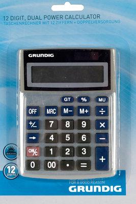 Grundig Calculator met dubbele voeding, 12 cijfers *6TH*