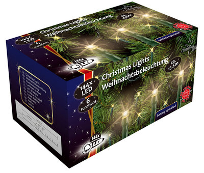 Christmas gifts LED-Kerstverlichting (144 LED's) met 6 funkties *6TH*