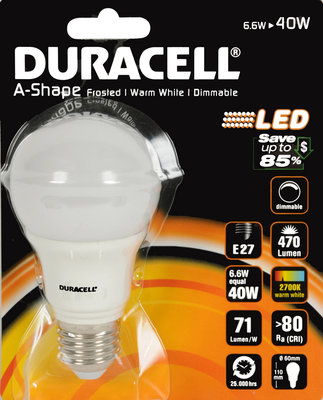 Duracell Dimbare LED-lamp 6,6W *6TH*