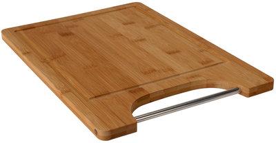 Bamboe snijplank met metalen handgreep *6TH*
