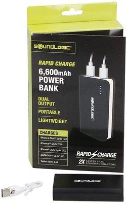 Powerbank - 6600mAh - Rapid charge *6TH*