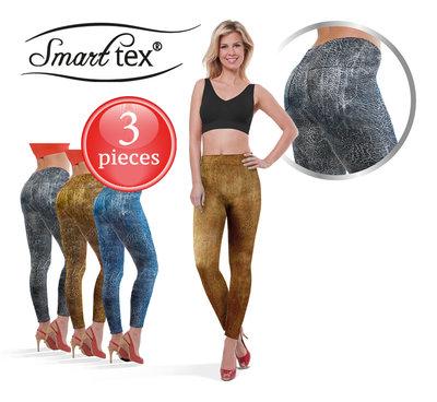 SmartTex Leggings Leather Print 3 pcs - Size L * SmartTex - 4260352628642 *6TH*