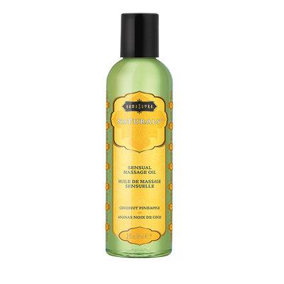 Kama Sutra - Naturals Massage Olie Kokosnoot Ananas 59 ml - Lichaamsmassage - Massage olie - E28943 - 739122102803 *6TH*