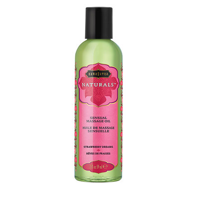 Kama Sutra - Naturals Massage Olie Aardbei 59 ml - Lichaamsmassage - Massage olie - E28945 - 739122102827 *6TH*