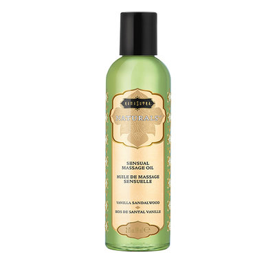 Kama Sutra - Naturals Massage Olie Vanille Sandelhout 59 ml - Lichaamsmassage - Massage olie - E28947 - 739122102841 *6TH*