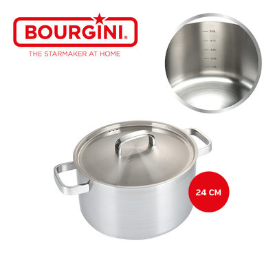 Bourgini Classic Cooking Pan Deluxe 24 cm * Bourgini - 8719325147827 *4TH*