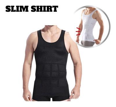 Slim Shirt Men - Black L * MyCare+ - 8715342015439 *4TH*