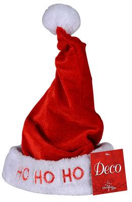 Kinder-kerstmuts met lichtjes en veer *2TH*