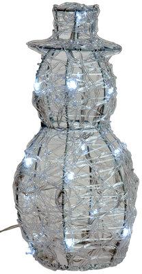 Acryl sneeuwman 25cm met 16 LED's *2TH*