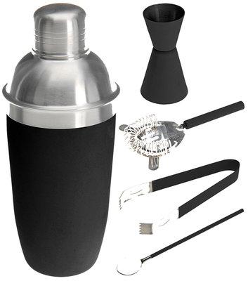 Cocktailshakerset 5 dlg zwart *7TH*