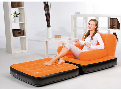 Bestway  Sofa, bank en matras, oranje *4TH*
