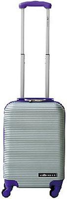 Leonardo Handbagage koffer duo-tone zilver / paars *7TH*