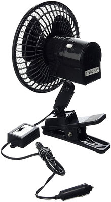 Auto-ventilator 12V met klem *4TH*
