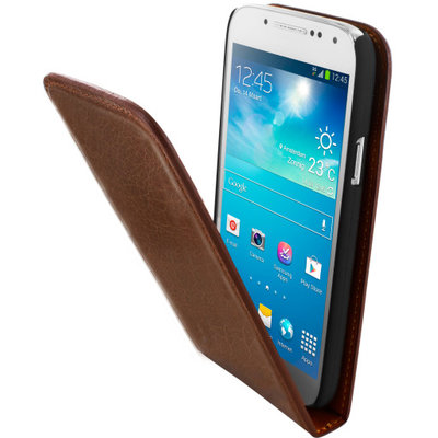 Mobiparts Luxury Flip Case Samsung Galaxy S4 Mini Chic Brown - Cases > Flip Cases - TKP-30725 SKU: LUX-FLIP-GS4MINI-07 EAN: 8718066261656 *3TH*