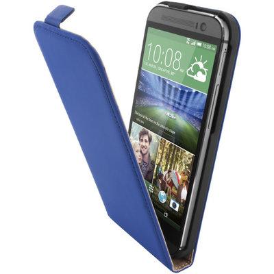 Mobiparts Premium Flip Case HTC One (M8) / M8s Blue - Cases > Flip Cases - TKP-29383 SKU: PRE-FLIP-HONEM8-04 EAN: 8718066248985 *7TH*