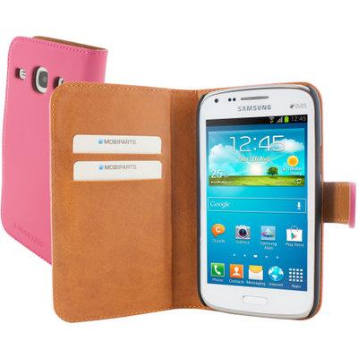 Mobiparts Premium Wallet Case Samsung Galaxy Core Pink - Cases > Wallet Cases - TKP-29017 SKU: PRE-WALLET-GCORE-03 EAN: 8718066246257 *7TH*