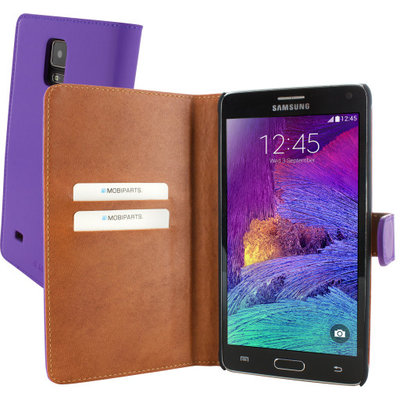 Mobiparts Premium Wallet Case Samsung Galaxy Note 4 Purple - Cases > Wallet Cases - TKP-30299 SKU: PRE-WALLET-GNOTE4-08 EAN: 8718066257642 *3TH*