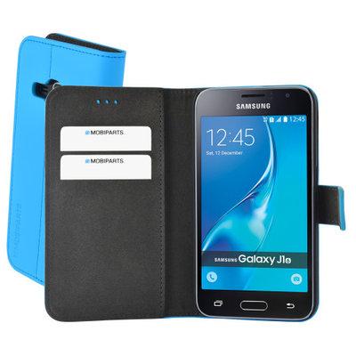 Mobiparts Premium Wallet Case Samsung Galaxy J1 (2016) Light Blue - Cases > Wallet Cases - TKP-38325 SKU: PRE-WALLET-GSJ12016-09 EAN: 8718066347169 *7TH*