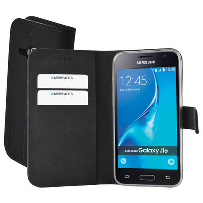 Mobiparts Premium Wallet TPU Case Samsung Galaxy J1 (2016) Black - Cases > Wallet Cases - TKP-44089 SKU: PRE-WTPU-GJ12016-01 EAN: 8718066350039 *7TH*