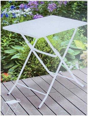 Bistrotafel vouwbaar metaal wit 70x50cm *4TH*